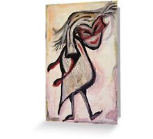 masked thief Greeting Card