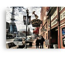 """""""DOWNTOWN: NASHVILLE, TENNESSEE, U.S.A....BEFORE THE FLOOD""""... prints and products Canvas Print"""
