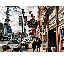 """DOWNTOWN: NASHVILLE, TENNESSEE, BEFORE THE FLOOD""... prints and products Photographic Print"