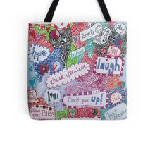 Positive Affirmation Doodle Tote Bag