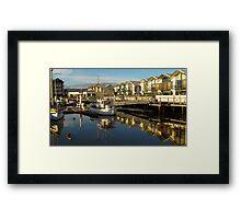 Launceston Marina Framed Print