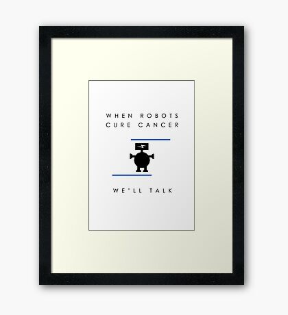 When Robots Cure Cancer (Airfix Democracies artwork) Framed Print