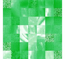 Baby Green Marble Quilt II Photographic Print