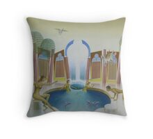 Romantic oil painting The Spring of the Water Nymphs Throw Pillow