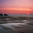 Cornwall - sunset by Bartosz Chajek