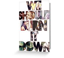 Daryl&Beth quote Greeting Card