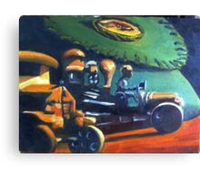 Old Toys with Fish Creel Canvas Print