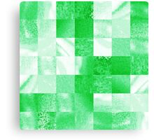 Baby Green Marble Quilt  Canvas Print