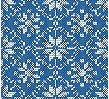 Knitted winter jacquard Photographic Print