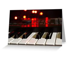 Synthesizer Greeting Card