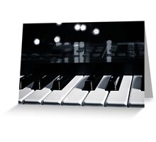 Synth Keyboard Greeting Card