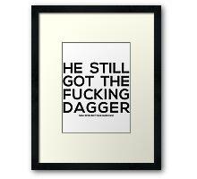 dagger tattoo Framed Print