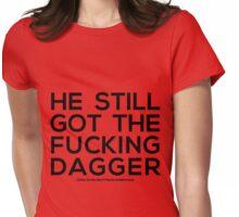 dagger tattoo Womens Fitted T-Shirt