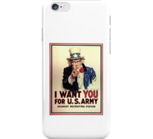 Uncle Sam - I Want You for US Army iPhone Case/Skin