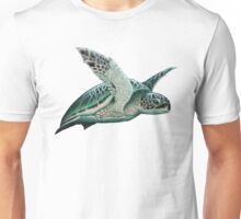 """Moonlit"" - Green Sea Turtle, Acrylic Unisex T-Shirt"