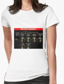 Roland Keyboard Controls Womens Fitted T-Shirt