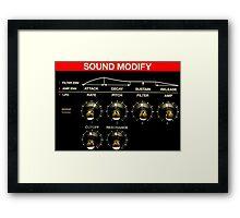 Roland Keyboard Controls Framed Print