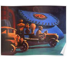 Antique Creel and Toy Trucks Poster