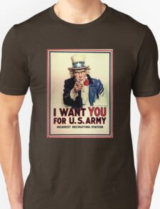 Uncle Sam - I Want You for US Army T-Shirt