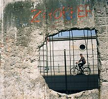 Decisive Moment, Berlin Wall by Megan Wellington