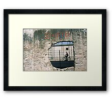 Decisive Moment, Berlin Wall Framed Print