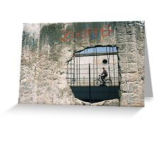 Decisive Moment, Berlin Wall Greeting Card