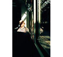 Man on train, Berlin Photographic Print