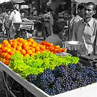Grapes and Oranges for sale, India by indiafrank