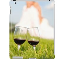two wineglasses wedding picnic iPad Case/Skin