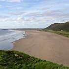 The Beach at Rhossili Wales by cofiant