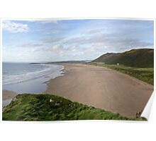 The Beach at Rhossili Wales Poster
