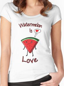 Watermelon is love Women's Fitted Scoop T-Shirt