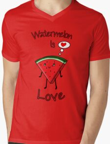 Watermelon is love Mens V-Neck T-Shirt