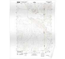 USGS Topo Map Oregon Jordan Valley 20110824 TM Poster