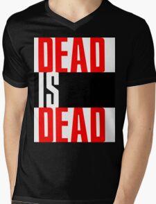 DEAD IS DEAD Mens V-Neck T-Shirt