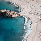 Sea and beach in Greece, near Argalasti by Maxim Mayorov