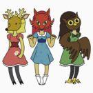 The Masked Girls by Angel Szafranko