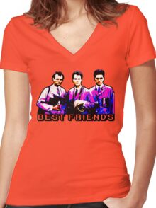 Best Friends - Spooks, Spectres, and Ghosts Women's Fitted V-Neck T-Shirt