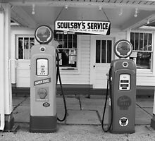 Route 66 - Soulsby Service Station by Frank Romeo