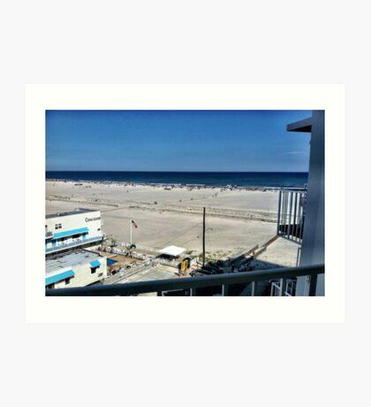 The Beach - Balcony View Art Print