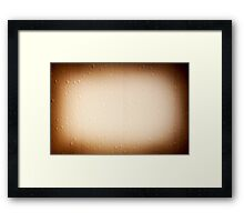 Brown water drops on window Framed Print
