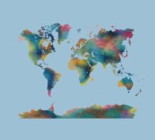 World Map Kids Tee