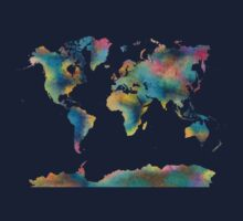 World Map Baby Tee