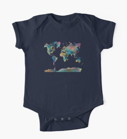World Map One Piece - Short Sleeve