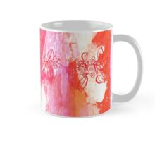 leaves and berries in pink Mug