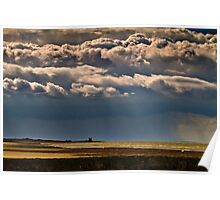 Storm over Reculver Poster