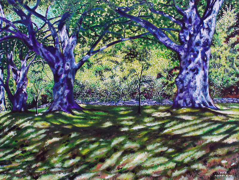 'Trees Along The Carriage Trail'  by Jerry Kirk
