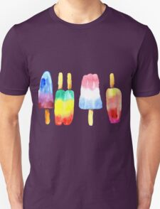 Watercolor Summer Popsicles T-Shirt