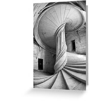 Chateau de la Rochefoucauld Stairway in B&W Greeting Card