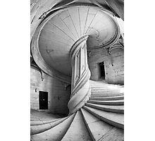 Chateau de la Rochefoucauld Stairway in B&W Photographic Print